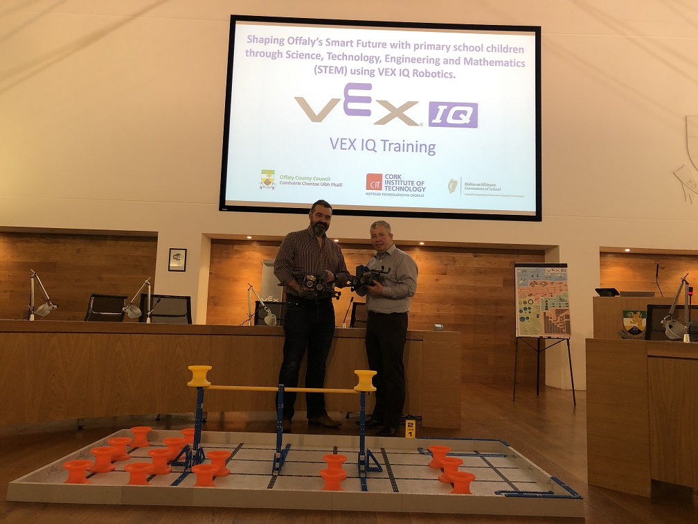 VEX IQ Offaly - David Hodge CIT and Ray Bell Offaly County Council