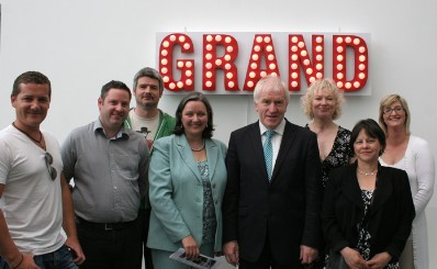 Minister Deenihan with artists of A Very Grand Canal Experience