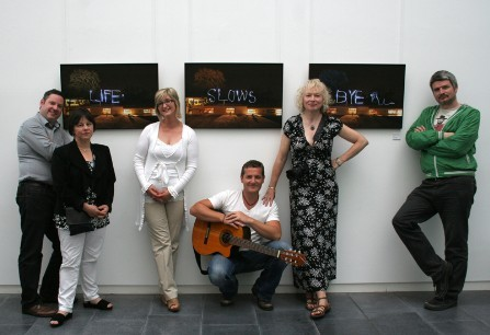 Photograph of Artists involvied in the collective per cent for art programme A Very Grand Canal Experience.