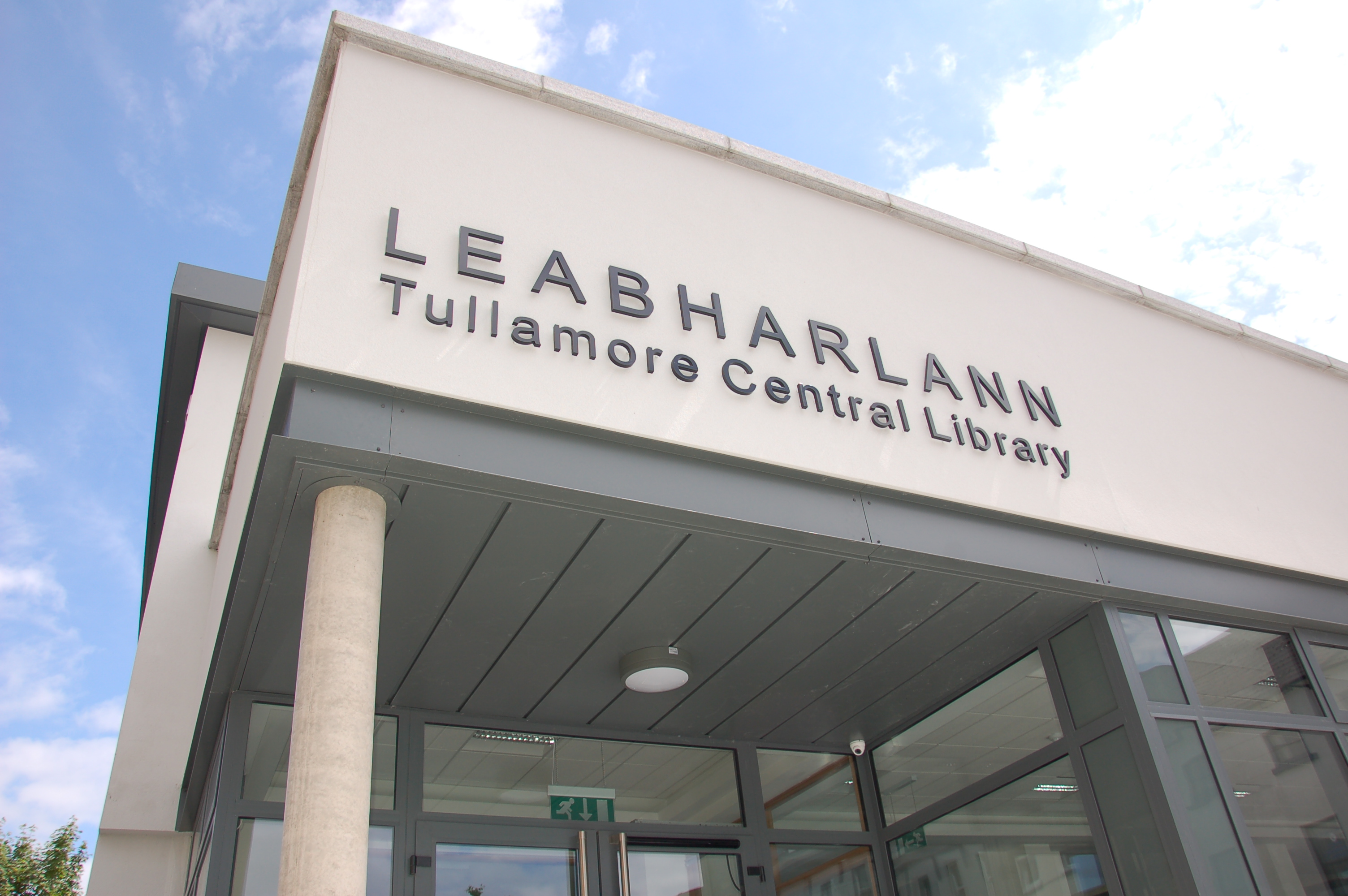 photograph of the front of Tullamore Central Library