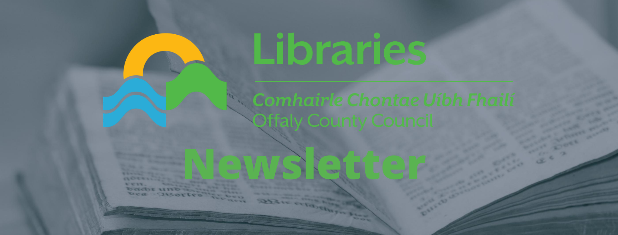Newsletter with library logo