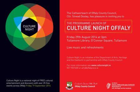 Culture Night Offaly Invitation 2014