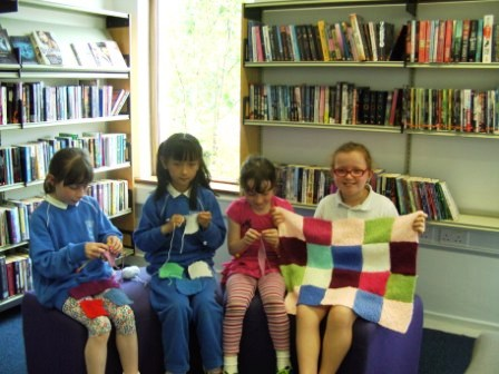 Junior Nifty Knitters at Clara Library