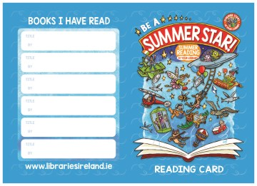Summer stars reading card page 1