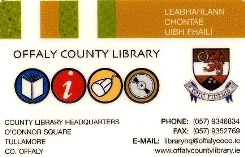 scanned image of offaly county library borrower card