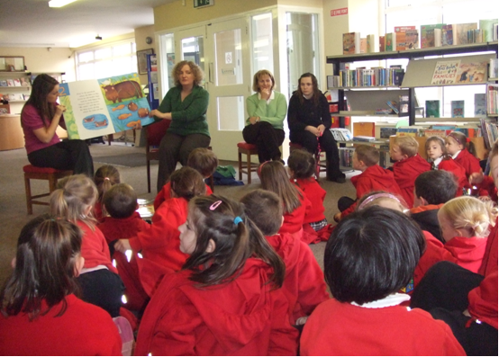 photograph of children during storytime at Edenderry Lirbary