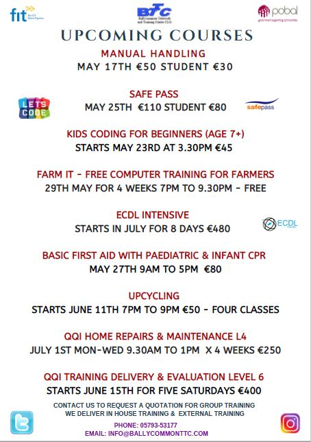 Ballycommon Courses May 2019