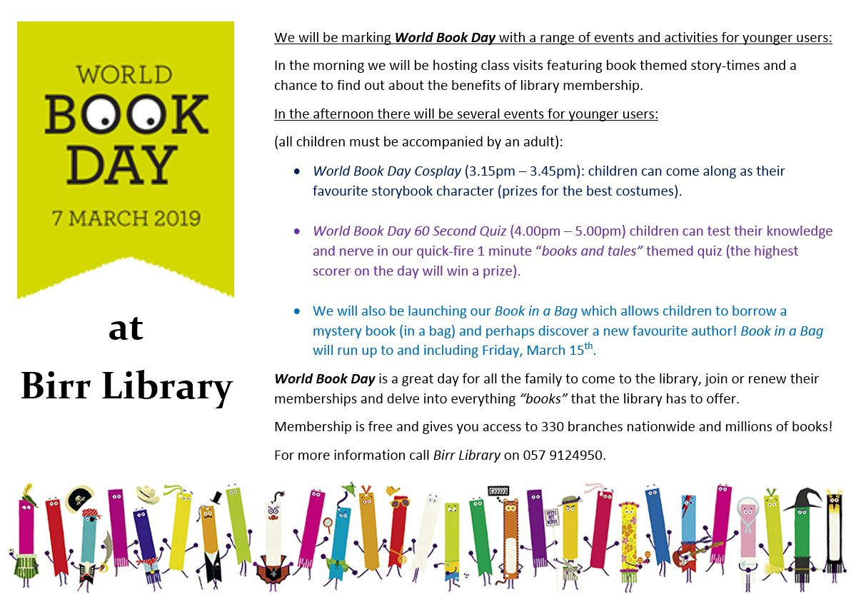 World Book Day at Birr Library
