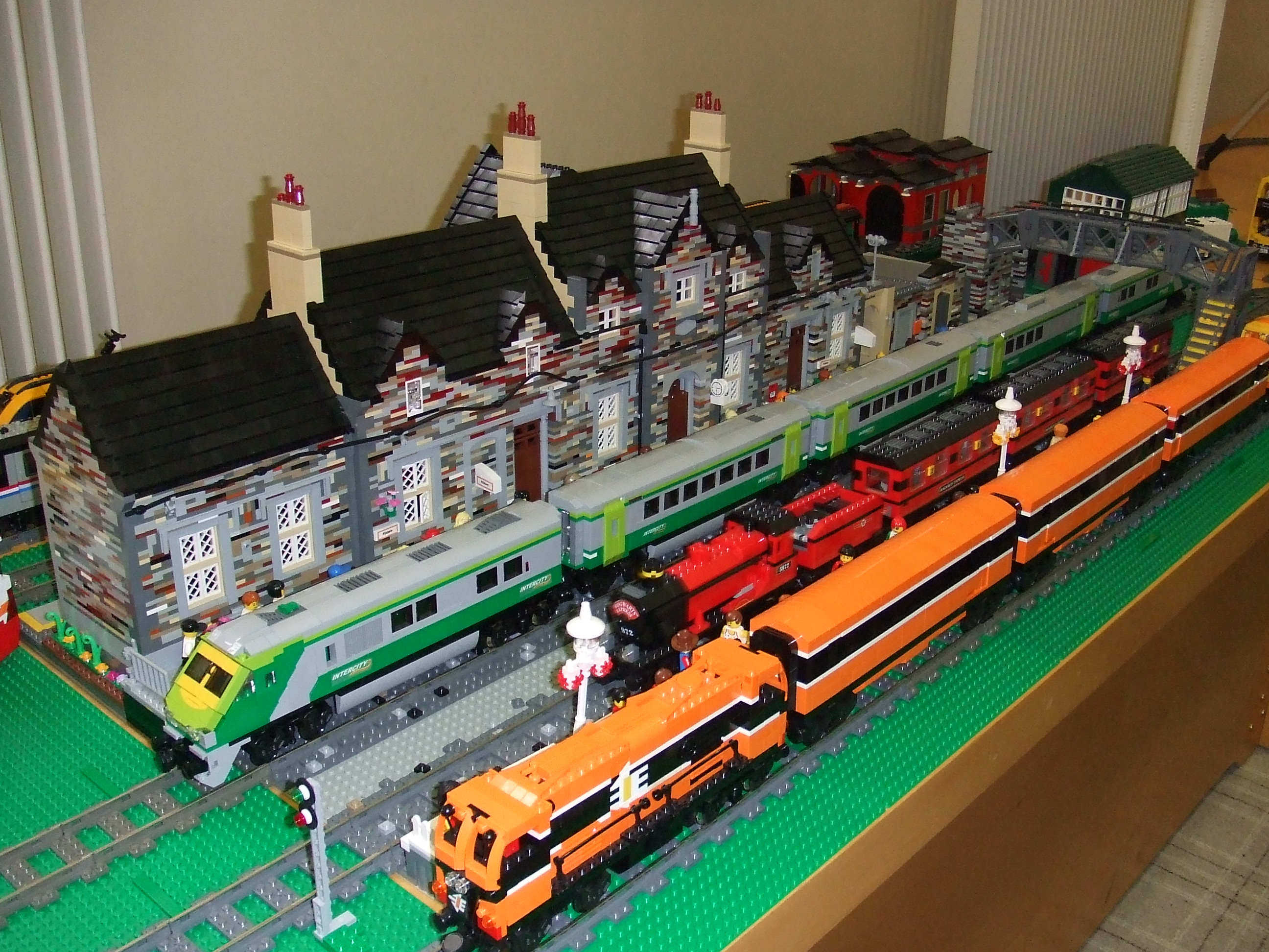 Birr Library Lego Exhilbition - Kildare Train Station by Breda Fennell and David Fennell 2