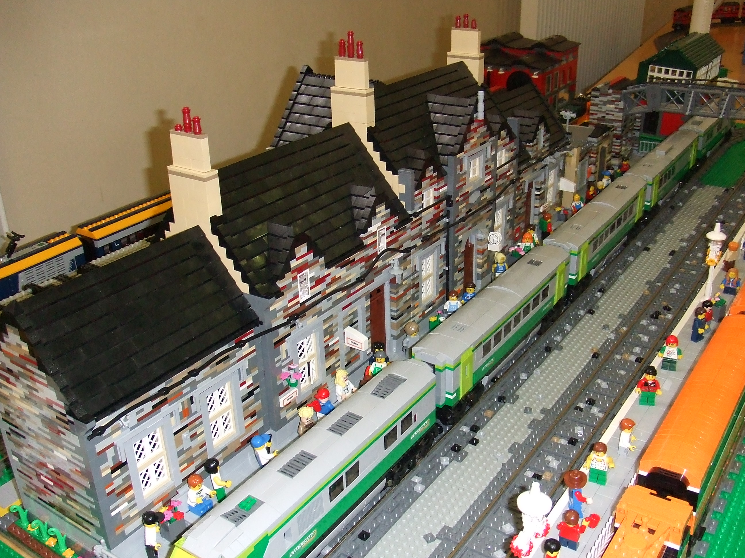 Birr Library Lego Exhibition - Kildare Train Station by Breda Fennell and David Fennell
