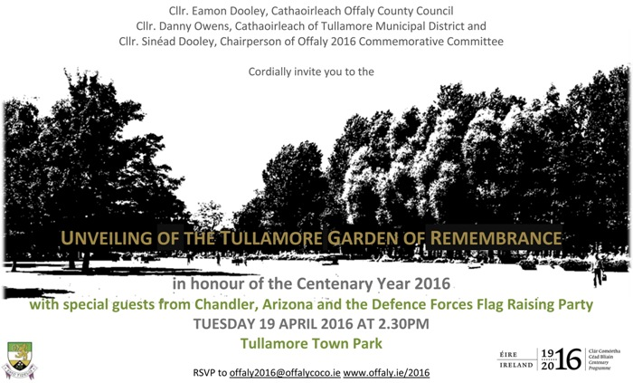 garden remembrance invitationTULLAMORE