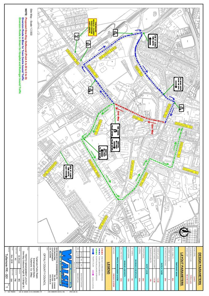 Tullamore Public Realm Works Map